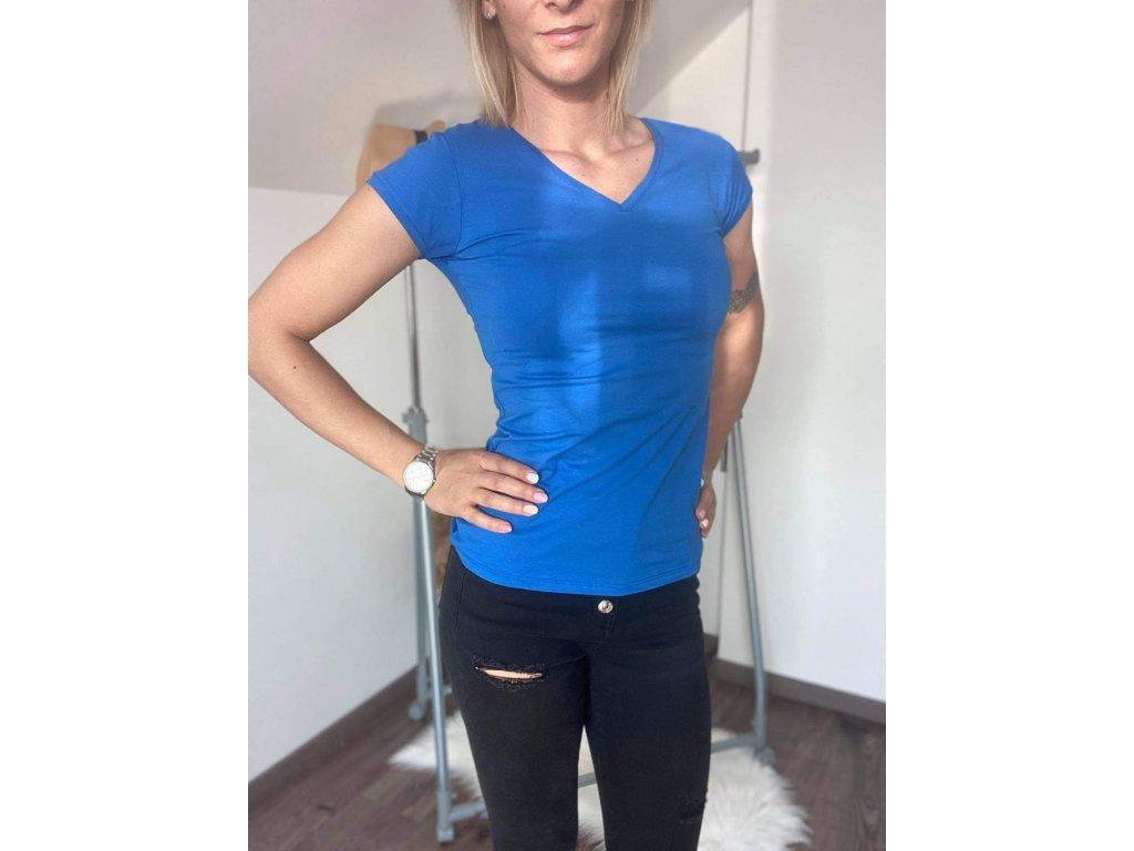Dámske tričko HJ337 modrá