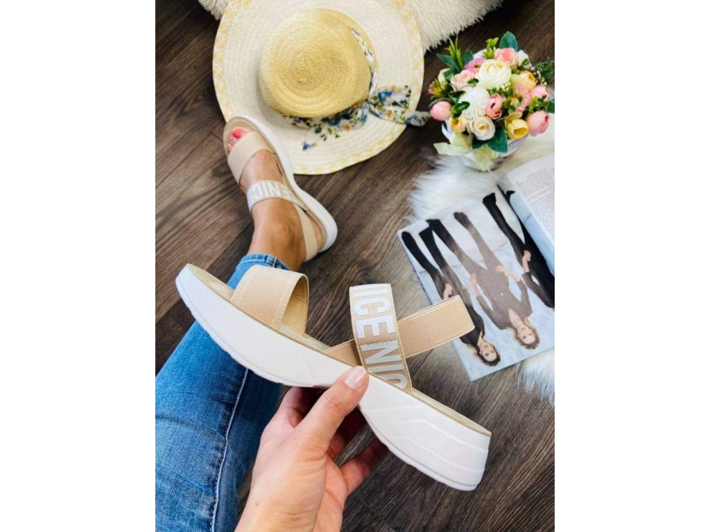Športové sandále 179 beige