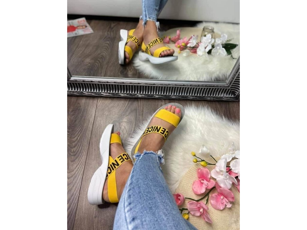 Športové sandále 179 yellow