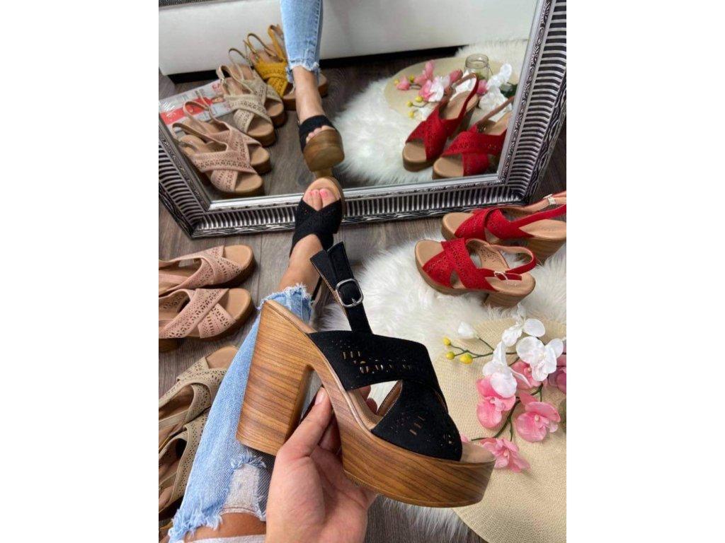Dámske sandále 8063 black