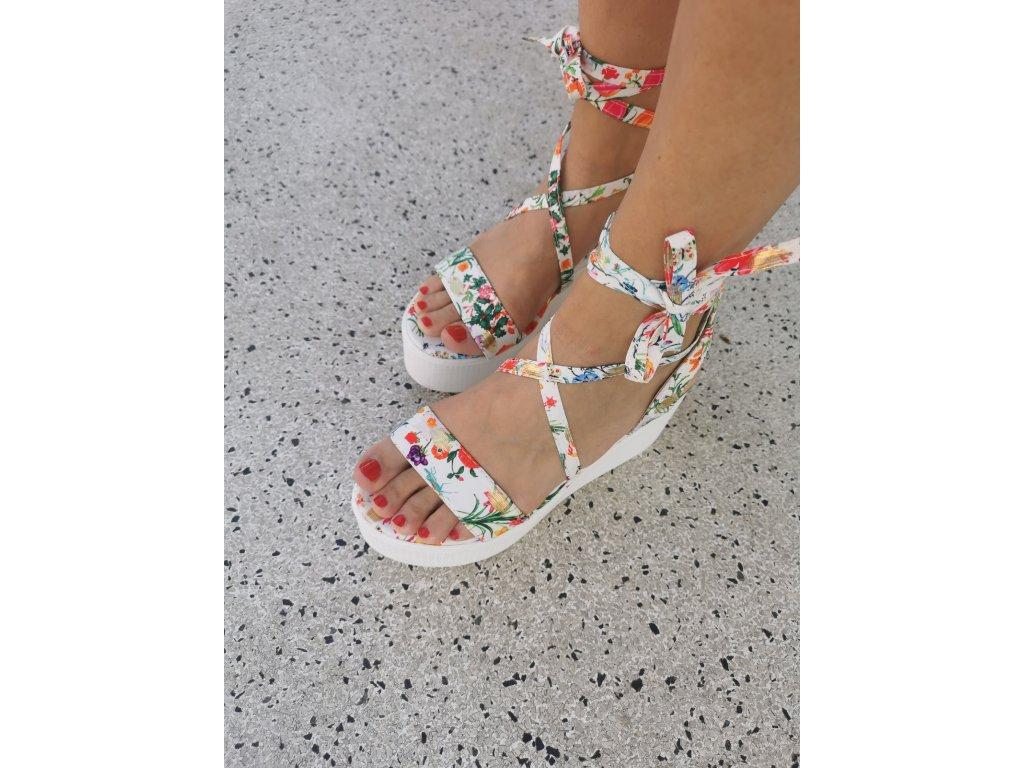 Dámske sandále JH152 flower white