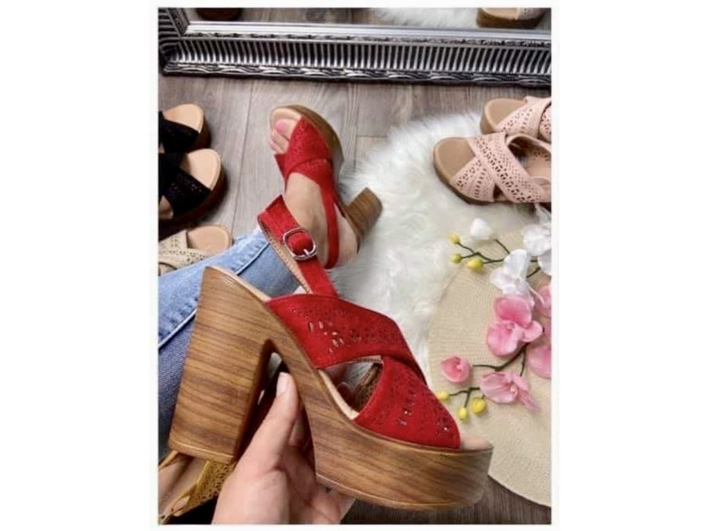 Dámske sandále 8063 red