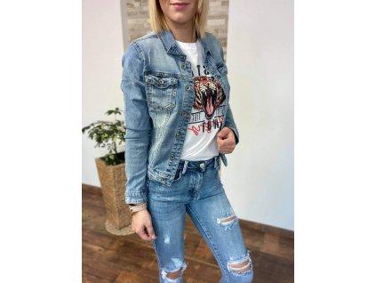 Riflová/džínsová bunda C007