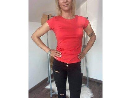 Dámske tričko HJ336 ružovo-červená