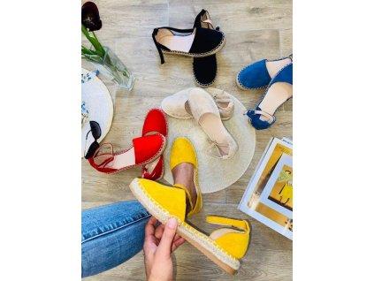 Dámske sandále 5334 yellow