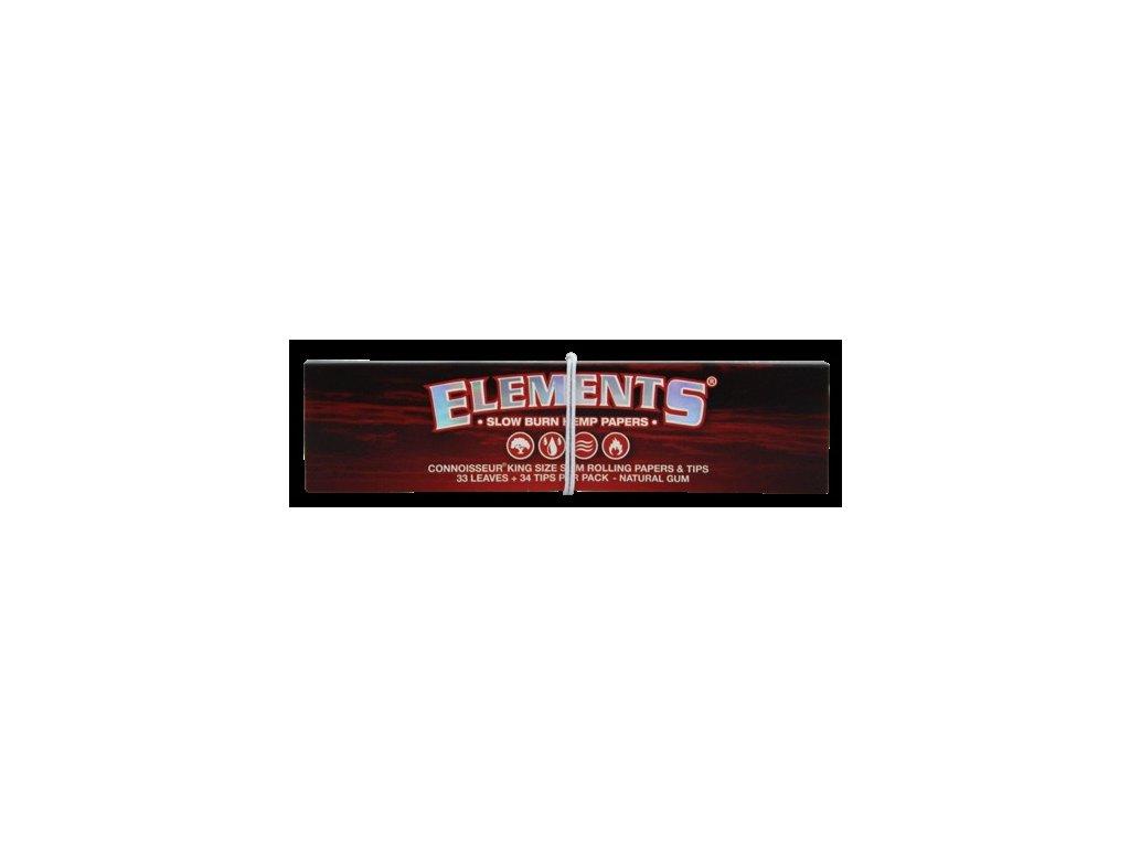 ELEMENTS Cigaretové papírky a filtry RED CONNOISSEUR 32 ks