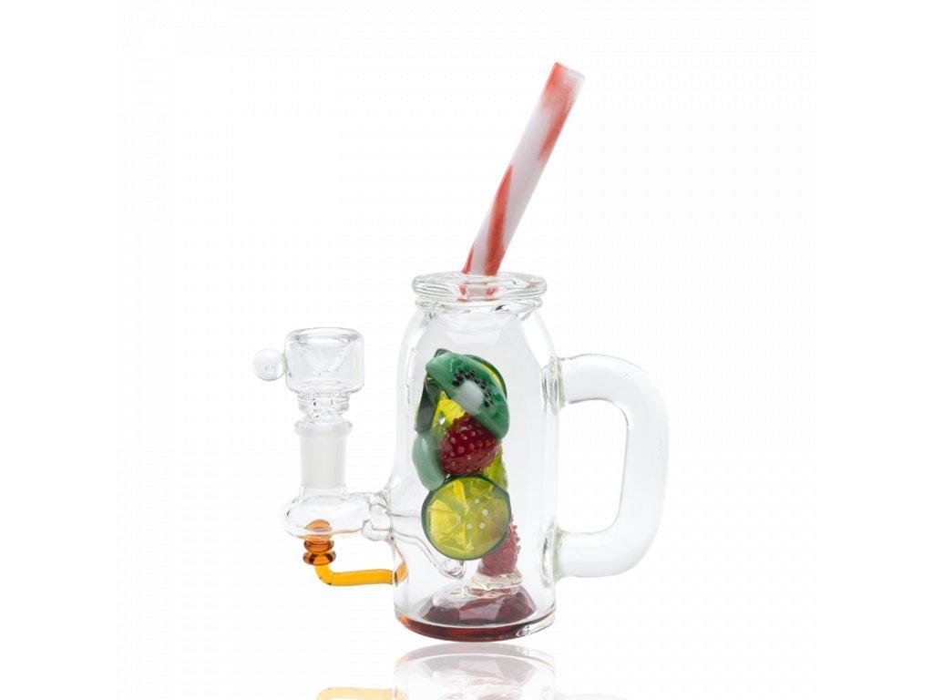 Skleněný bong Fruity detox, levny bong, limited bong, bong do ruky, fruit bong, bong ovoce