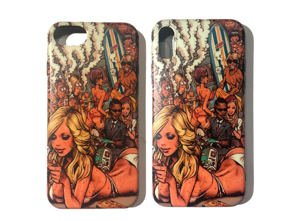 %22RAW GIRL SUMMER%22 iPhone Case club420