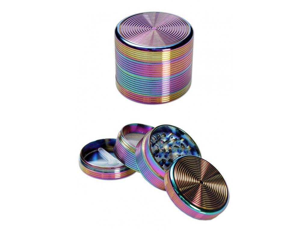 Hliníková drtička Rainbow - RIPPLE GRINDER - Ø 50mm