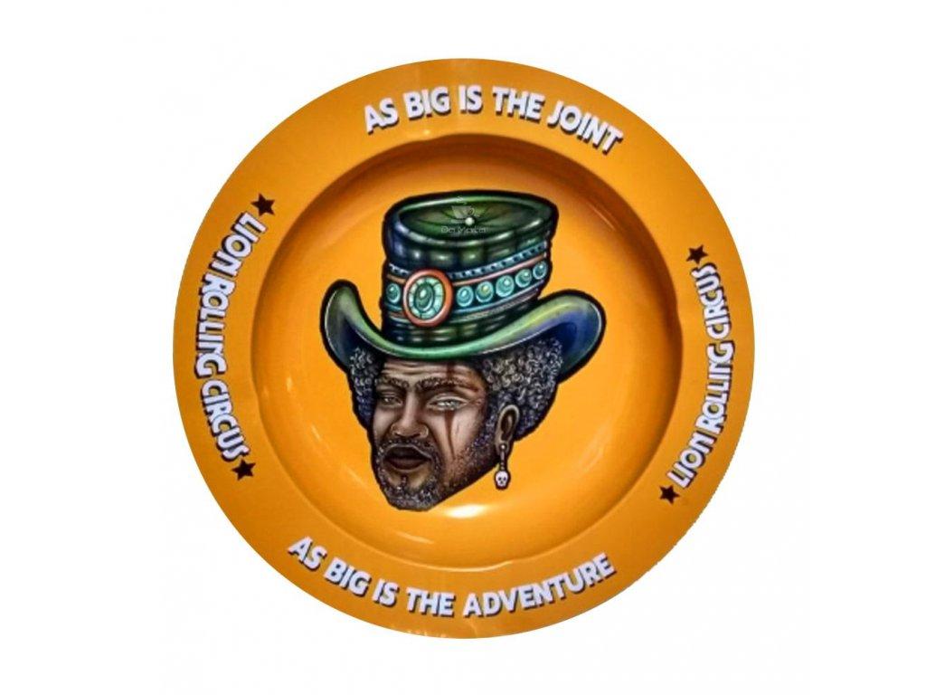 LION ROLLING CIRCUS Oranžový popelník 14 cmcinzeiro de metal lion rolling circus mr trampoline 5071 1 20200203142822