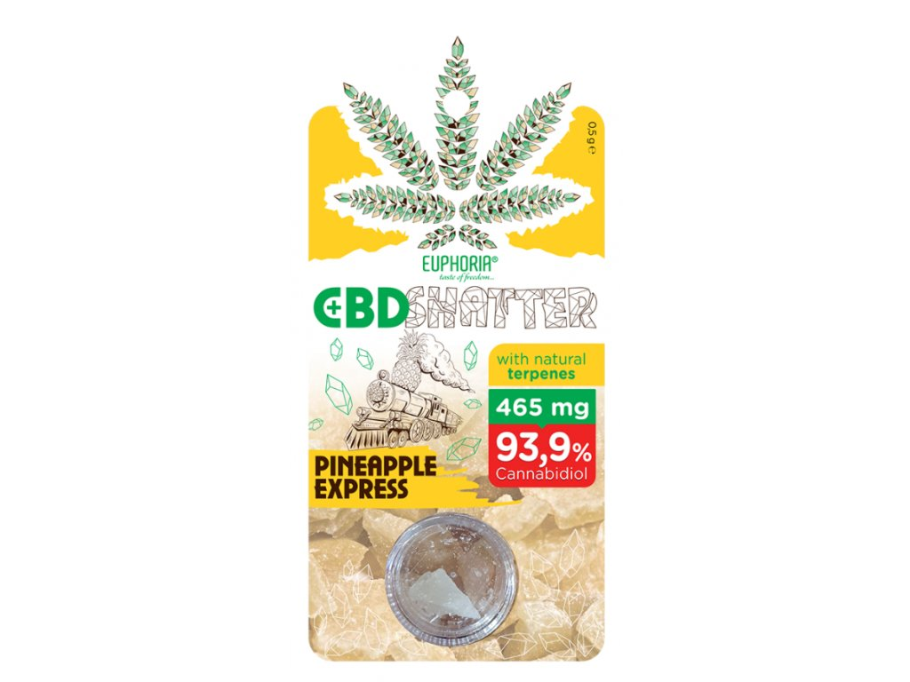 Euphoria CBD Shatter Pineapple Express (465mg CBD) 0,5 g