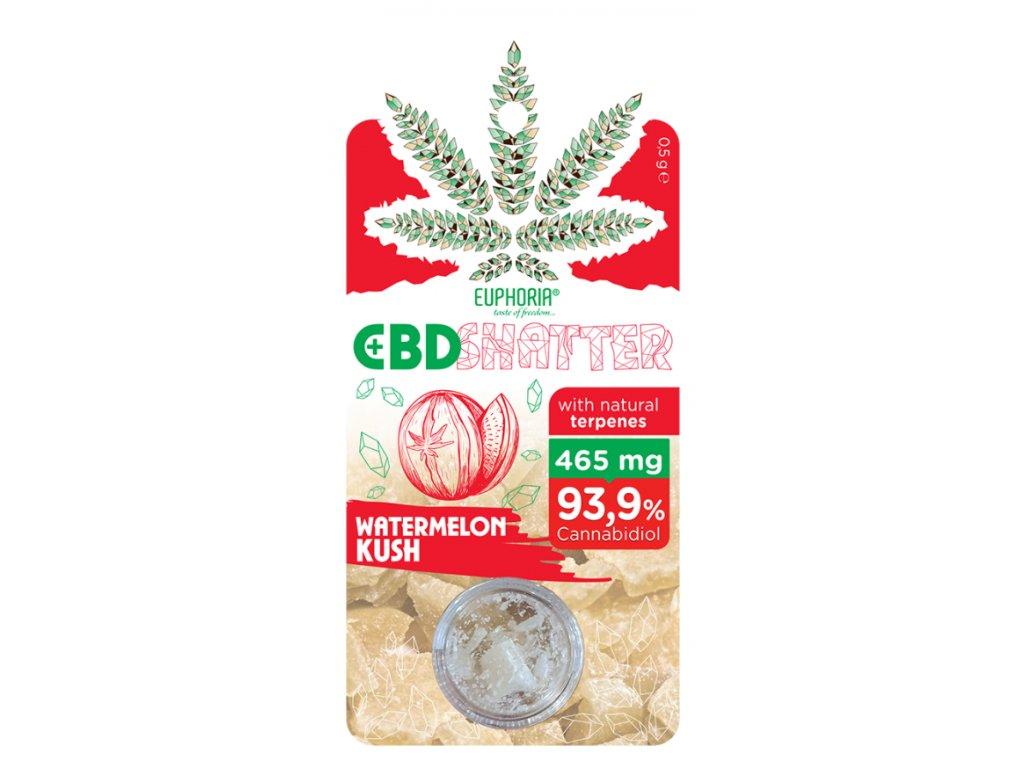 Euphoria CBD Shatter Watermelon Kush (465mg CBD) 0,5 g