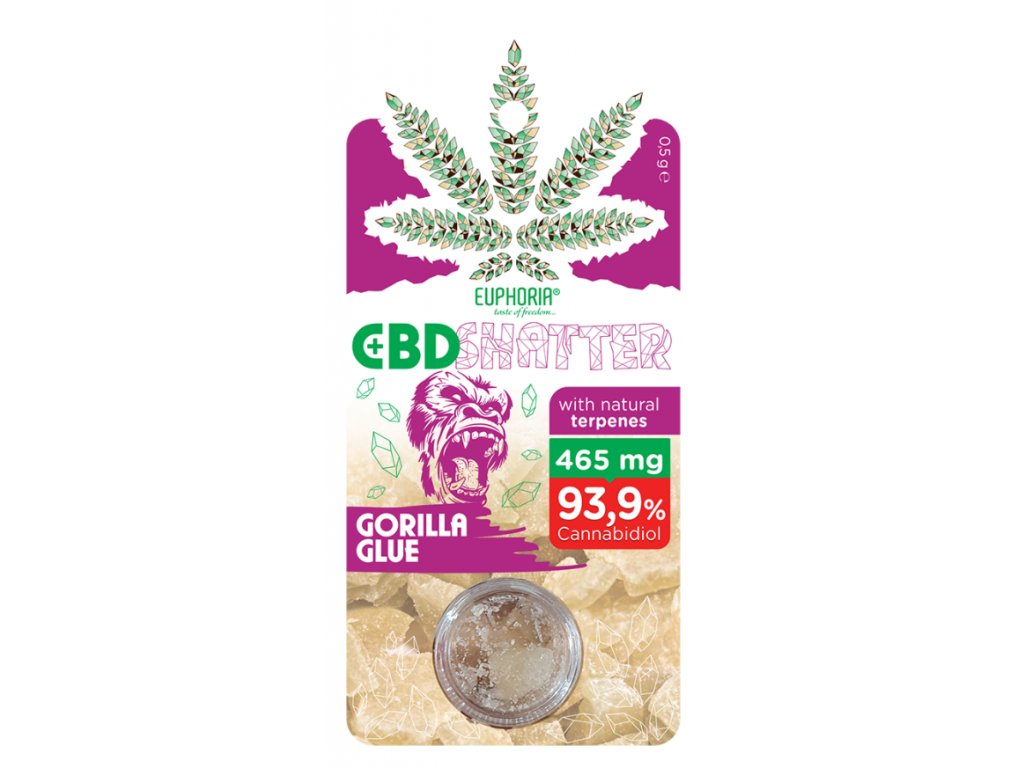 Euphoria CBD Shatter Gorilla Glue (465mg CBD) 0,5 g