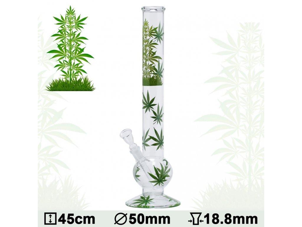 Leaf | Leaf Jhari Bouncer Glass Bong- Ø:50mm- H:45cm- Socket:18.8mm
