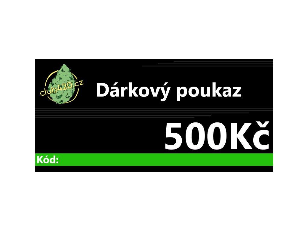 darkovypoukaz500kč