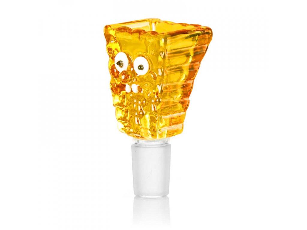 Sponge Skleněný žlutý kotlík 14 mm