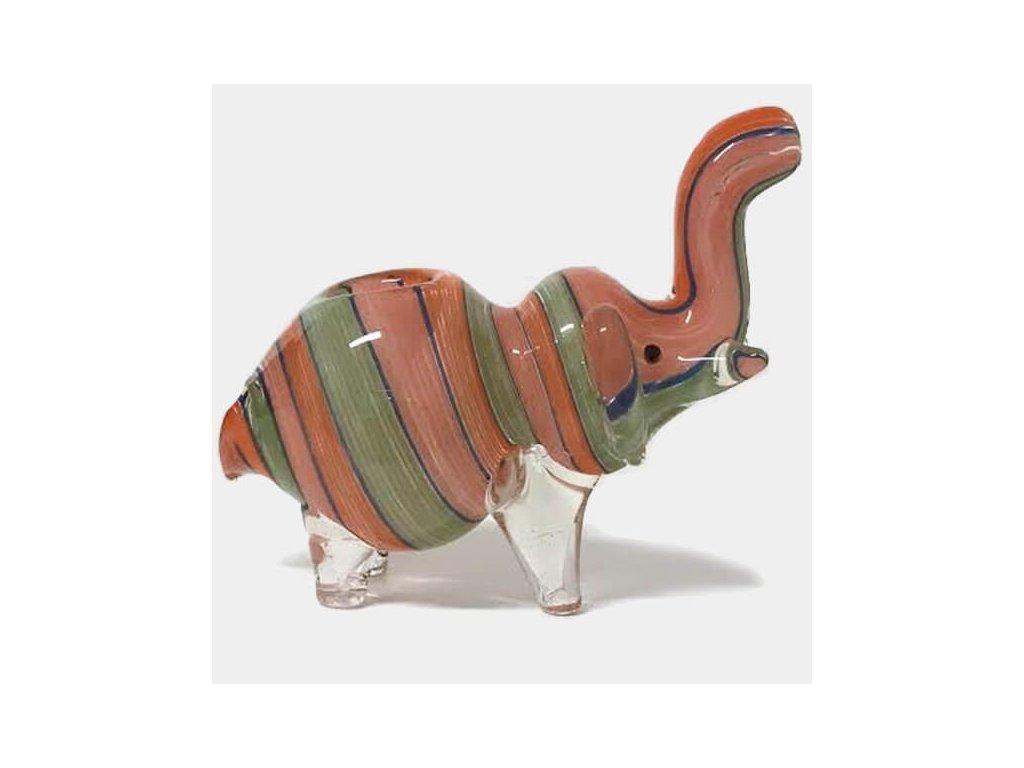 Multicolor elephant glass pipe