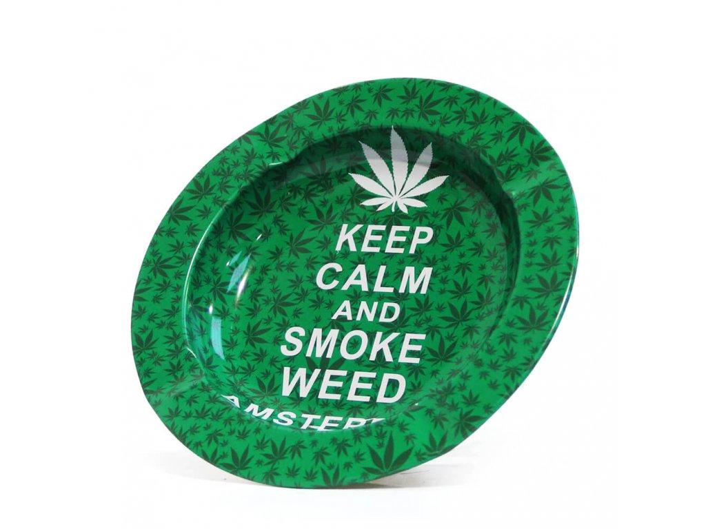 Keep Calm And Smoke Weed Metal Ashtray