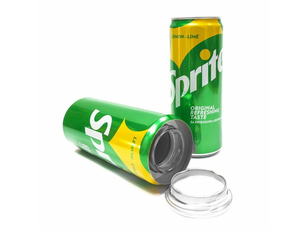 Lemonade soda aluminium smart stash can