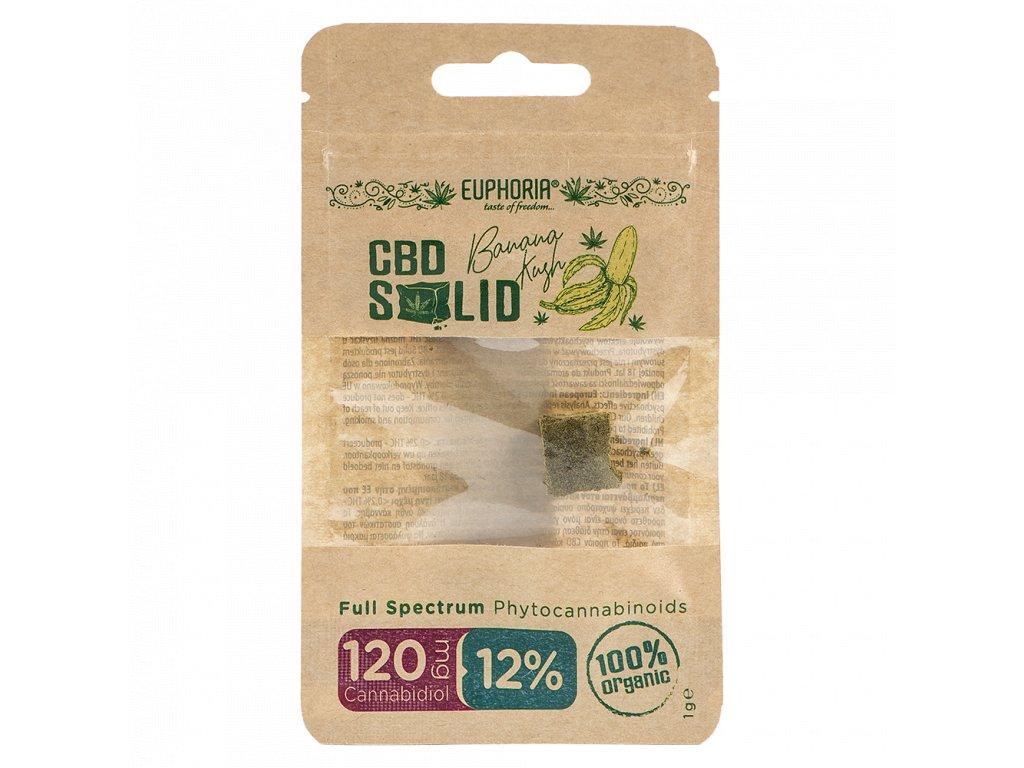 EUPHORIA CBD Lisované konopí 12 % BANANA KUSH 1 g
