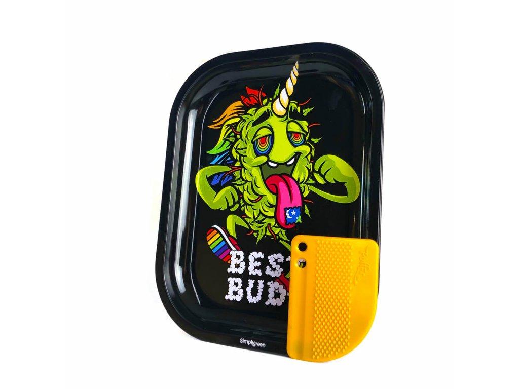 Malá kovová balicí podložka Best Buds LSD