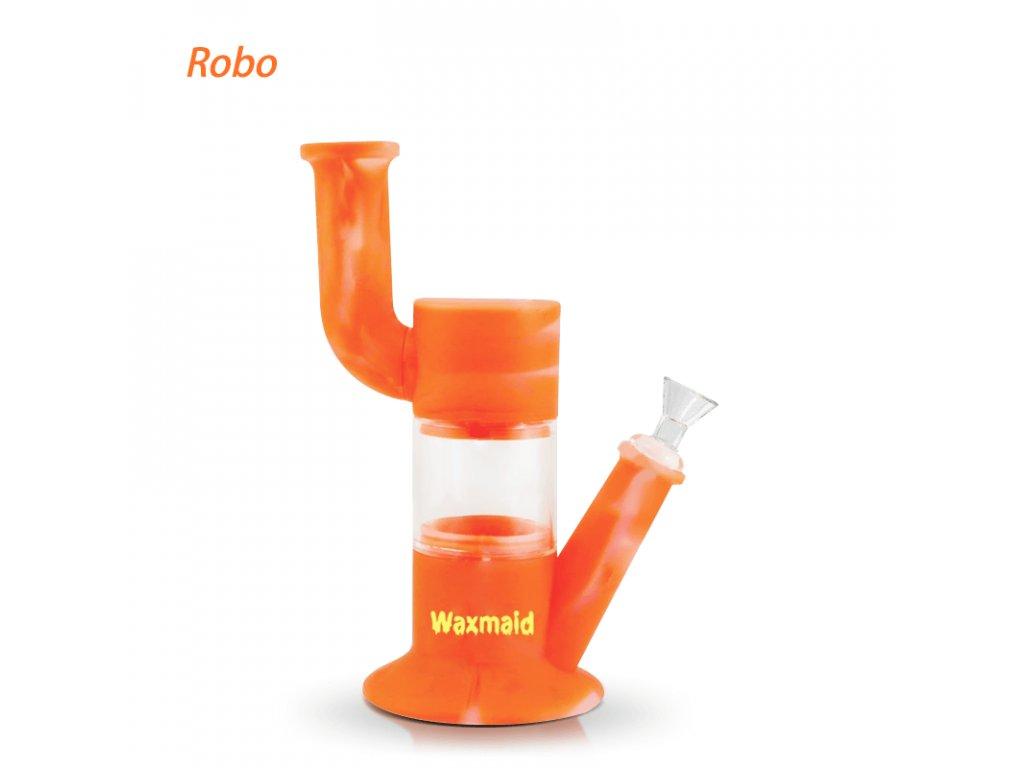 WaxmaidRobosiliconeglasswaterpipetranslucentorange 2048x