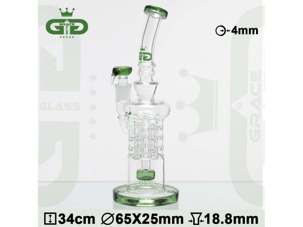 Skleněný bong s recyklérem Grace Glass OG Series   Recycler