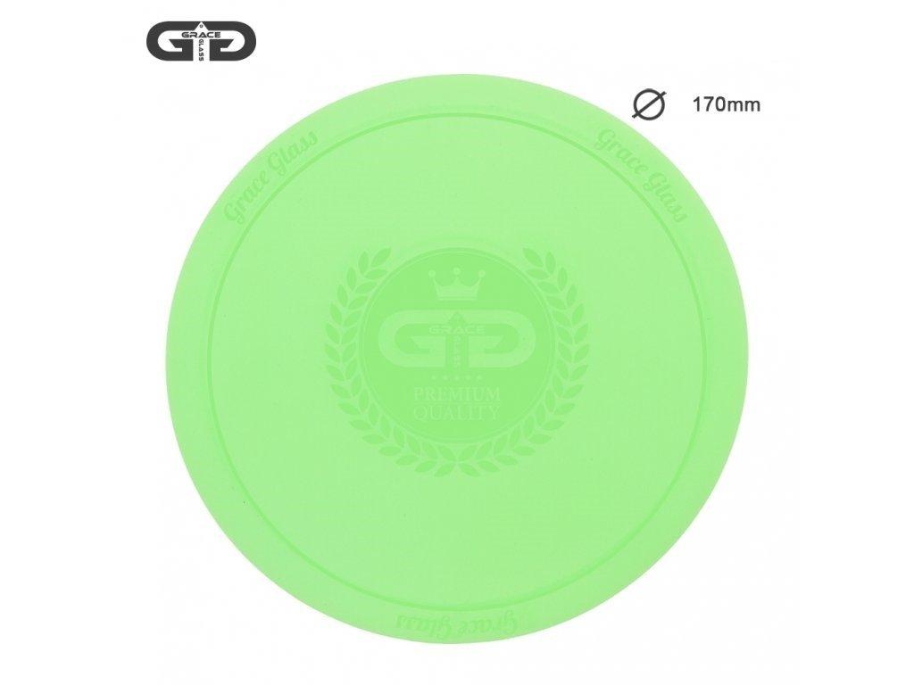 Malá silikonová podložka pod bong Small silicon Pad - Underlay for Bongs- GREEN