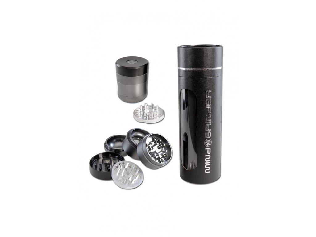 3patrová hliníková drtička Mind Grinder' Aluminium Grinder 4-part