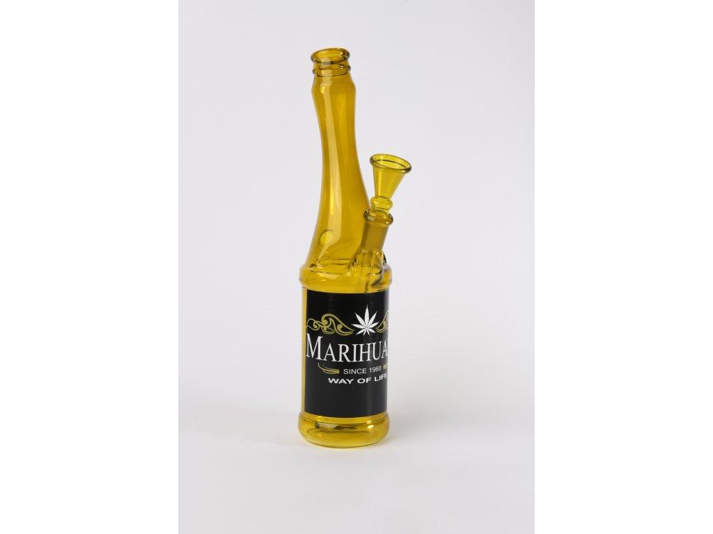 Bong pivní lahev Beer Bottle Glass Bong Marihuana Black