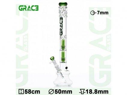 3patrový skleněný ice bong Grace Glass OG Series   Empire State Hit