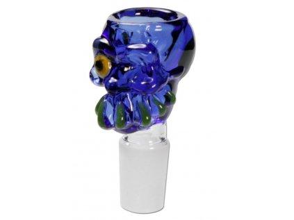 Skleněný kotlík 'Zombie' modrý