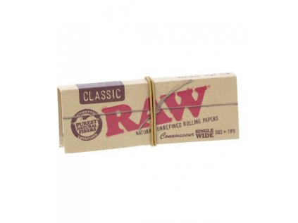 RAW papirky s filtry Classic Single Wide Connoisseur