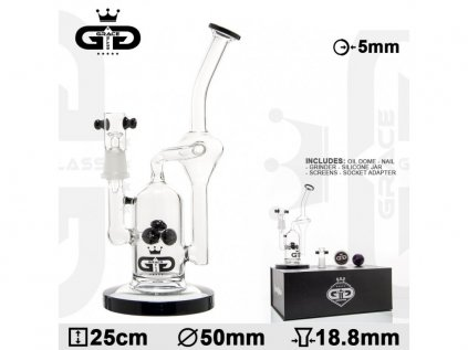 Sada skleněný bong Grace Glass OG Series | Watermill black