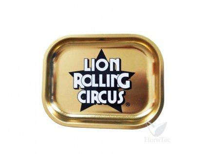 Zlatá kovová balicí podložka LION ROLLING CIRCUS