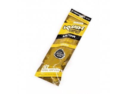 Předbalené konopné papírky s filtrem KUSH CONICAL - LEMONADE