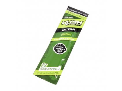 1 box kush herbal wraps ultra slow burn original hemp no tobacco 2