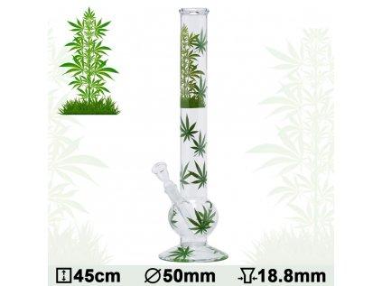 Leaf Jhari Skleněný bong Bouncer 45 cm