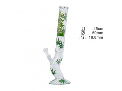 Leaf | Leaf Jhari Hangover Glass Bong- Ø:50mm- H:45cm- Socket:18.8mm