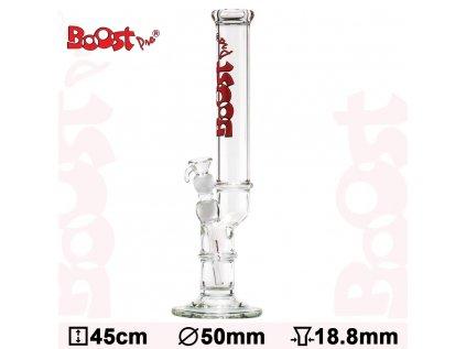 Boost Pro Skleněný bong Bolt Red 45 cm