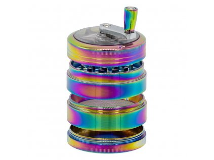 Grace Glass Amsterdam | Rainbow Grinders - 4part - Ø:63mm - crank and window - Rainbow Colors - 6pcs