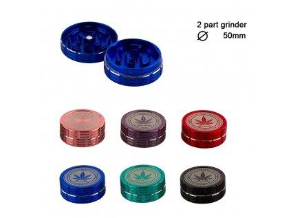 Kovová drtička Grace Glass Amsterdam Rainbow 2part