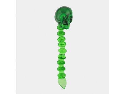 Green skull glass dabber