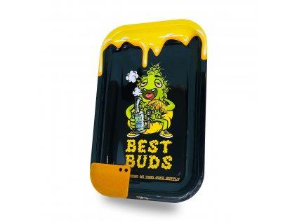 Velká kovová balicí podložka Best Buds Dab