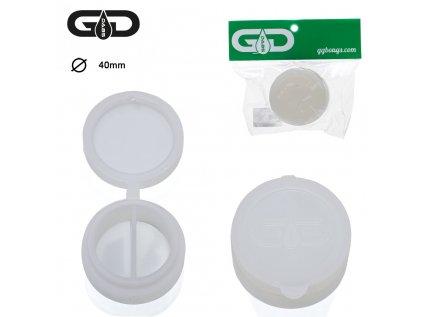 Bílá silikonová krabička na DAB Grace Glass Dabs Silicon Jar- White- Ø: 4 cm