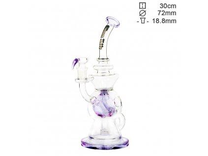 Thug Life | Recycler Series Purple - H:30cm - SG:18.8mm - Ø:72mm