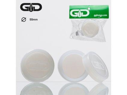 Bílá silikonová krabička na DAB Grace Glass Dabs Silicon Jar-White- Ø:55mm