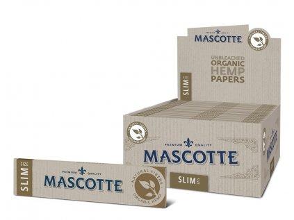 4206 mascotte organic hemp king size slim paper 34 leaves per booklet