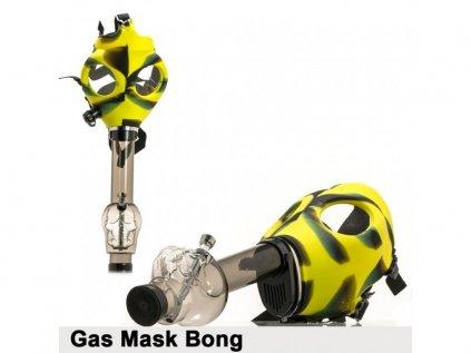 Bong se žlutočernou plynovou maskou a lebkou Gas Mask Bong- Yellow Skull Shape