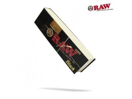 Papírové filtry RAW  Black Tips 50 ks